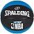 Bola De Basquete Spalding - NBA Force - Borracha - Preta/Azul - Imagem 1