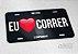 """Placa Decorativa Corrida """"Amo Correr preto"""" - Imagem 2"""
