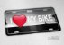 "Placa Decorativa Bike ""I love my Bike"" - Imagem 2"