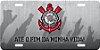 """Placa Decorativa Corinthians """"ATÉ O FIM DA MINHA VIDA"""" (cinza) - Imagem 2"""