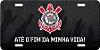 """Placa Decorativa Corinthians """"ATÉ O FIM DA MINHA VIDA"""" (preto) - Imagem 2"""