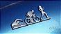 Adesivo Triathlon - FEM (Cromado e Preto) - Imagem 1