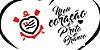 Placa Decorativa Corinthians  - Meu Coração é Preto e Branco - Imagem 3