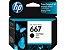 Cartucho de Tinta HP 667 Preto 3YM79L 3YM79AL Original - Imagem 1