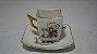 Xícara Chá Café Com Pires Porcelana Condessa Desenho China - Imagem 1