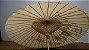 Antiga Sombrinha Japonesa Chinesa Oriental Bambu - Imagem 3