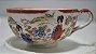 Xícara Chá Café Com Pires Porcelana Japonesa Pintado A Mão - Imagem 2