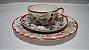 Xícara Chá Café Com Pires Porcelana Japonesa Pintado A Mão - Imagem 1