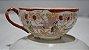 Xícara Chá Café Com Pires Porcelana Chinesa Pintado A Mão - Imagem 2