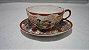 Xícara Chá Café Com Pires Porcelana Chinesa Pintado A Mão - Imagem 1