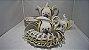 Antigo Jogo De Café Chá Porcelana Schimidt Rosas Roxa 33pç - Imagem 1