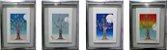 Conjunto 4 Quadros Pintura R. Yague Estações Do Ano  - Imagem 1