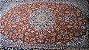 Tapete Persa Esfahan Legitimo Bordo Preto 2,00x3,43m - Imagem 3