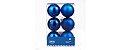 CANVAS Bola Azul Inquebrável Enfeite para Natal - Imagem 1