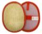 Esponja Bucha Vegetal Baby Mash Vermelha Fibra Forte Revenda - Imagem 1