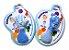 Kit 2 Mordedor Macio Mãozinha Pezinho Azul Mão E Pé Vila Toys - Imagem 2
