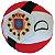 República das Duas Naçõesball De Pelúcia Countryball - Imagem 1