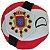 República das Duas Naçõesball De Pelúcia Countryball - Imagem 2
