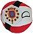 República das Duas Naçõesball De Pelúcia Countryball - Imagem 3