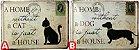 Cachorro Gato Animal Quadro Placa Metal - Imagem 2