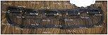 Aplique de tic tac sintetico liso castanho médio com luzes douradas 60cm  - Imagem 7