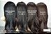 Lace Front Wig liso preto Maísa 70cm - Repartição lateral - PRONTA ENTREGA - Imagem 2