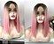 EDIÇÃO LIMITADA Peruca lace front wig  - Lolla  - Ombre  Rosa bebe  - Imagem 2