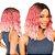 Peruca lace front wig curta ondulada Rosa ombre - LARA - PRONTA ENTREGA - Imagem 1