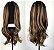 Peruca wig ondulada com repartição ao meio - Morena Iluminada  60cm - LIZ - Imagem 2