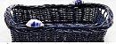 Porta pães em vime azul marinho com dois caracóis - Imagem 1