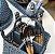 Porta talher azul cinza  petróleo com pássaro grande - Imagem 1
