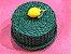 Porta queijo verde em vime com limão siciliano.  D=28 x H=14cm - Imagem 2