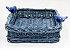 Porta guardanapo  vime azul cinza  petróleo - Imagem 1