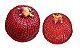 Kit em vime vermelho e apliques em cerâmica caju - Imagem 2