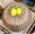 Boleira verniz em vime com duplo limão siciliano.  D=35 x H =16 cm. - Imagem 1