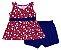 Conjunto de Bata e Shorts em Cotton Vermelho - Imagem 1