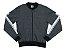 Jaqueta em Moletom Peluciado com Estampa Mescla Escuro - Imagem 1