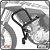 Protetor de Motor Carenagem HONDA BROS 160 15> SCAM - Imagem 1