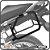 Suporte de baú lateral BMW R1200R 04/12 SCAM - Imagem 1