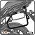 Suporte de baú lateral KAWASAKI VERSYS 650 TOURER 15> SCAM - Imagem 1