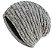 Touca Comfy - cinza com forro branco - Imagem 1