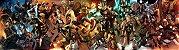 Painel de Festa Infantil Personalizado em Tecido Grande Heróis da Marvel - Imagem 1
