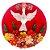 Mandala Divino Espírito Santo Madeira Com Flores Luxo - Imagem 1