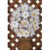 Quadro Vaso Flores Madeira Fundo Trançado (55 X 36)cm - Imagem 2