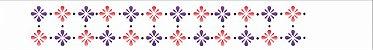Stencil 4X30 Simples – Pontilhado Flor 2 OPA 1040 - Imagem 2