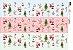 Papel para Decoupage de Natal  OPAPEL 30X45 Estampa Natalina 3 Faixas – 2539 - Imagem 1