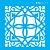 Stencil 10×10 Simples – Ladrilho Lança II – OPA2415 - Imagem 2
