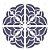 Stencil 30,5×30,5 Simples – Mandala III Camada I – OPA 2299 - Imagem 1