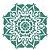 Stencil 30,5×30,5 Simples – Mandala II Camada I – OPA 2297 - Imagem 1