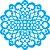 Stencil 30,5×30,5 Simples – Mandala Flor – OPA 2097 - Imagem 2